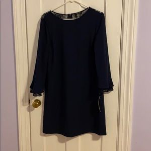 Tahari size 8 Navy Shift Dress